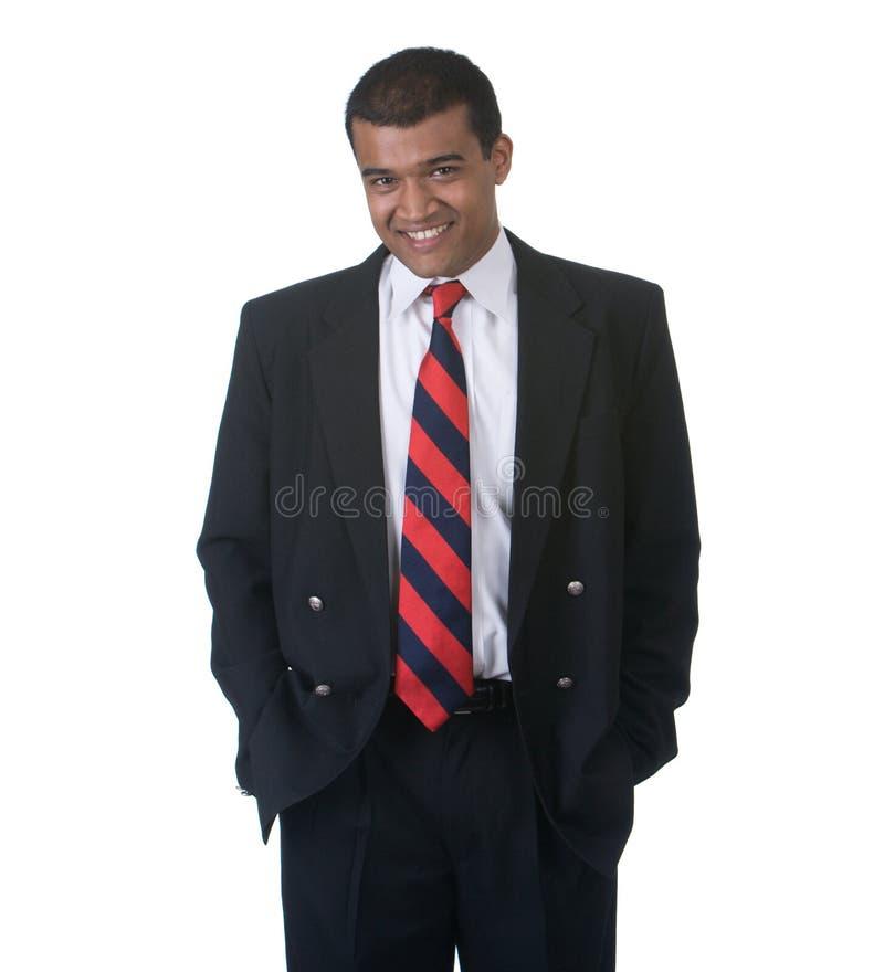 Nahöstlicher Mann in der Klage glücklich lizenzfreies stockbild