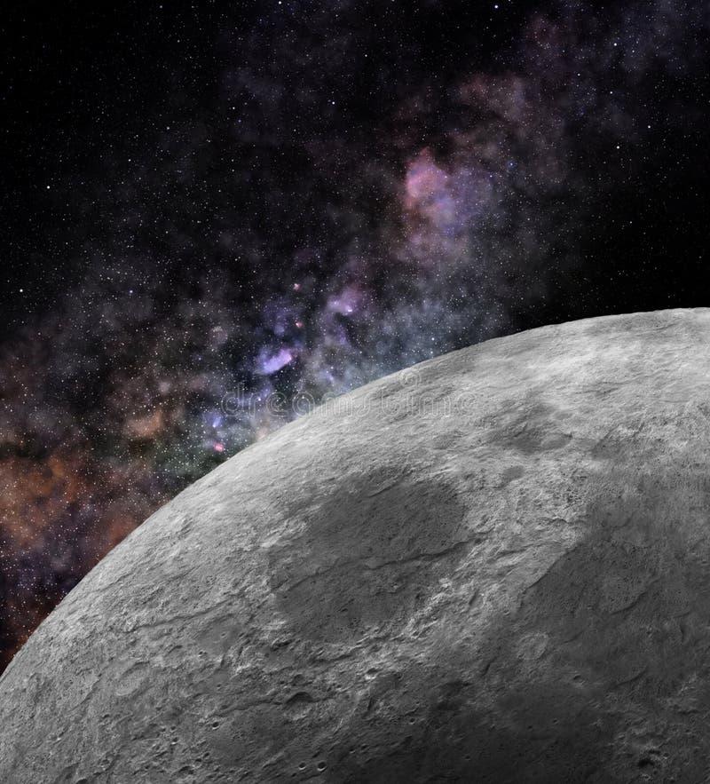 Nah an dem Mond stockfotografie