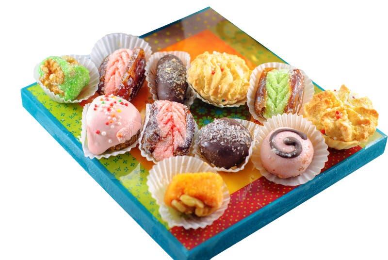 Nah?stliche Nachtische Arabische Bonbons Hennastrauch und Mimouna Cookies lizenzfreies stockfoto