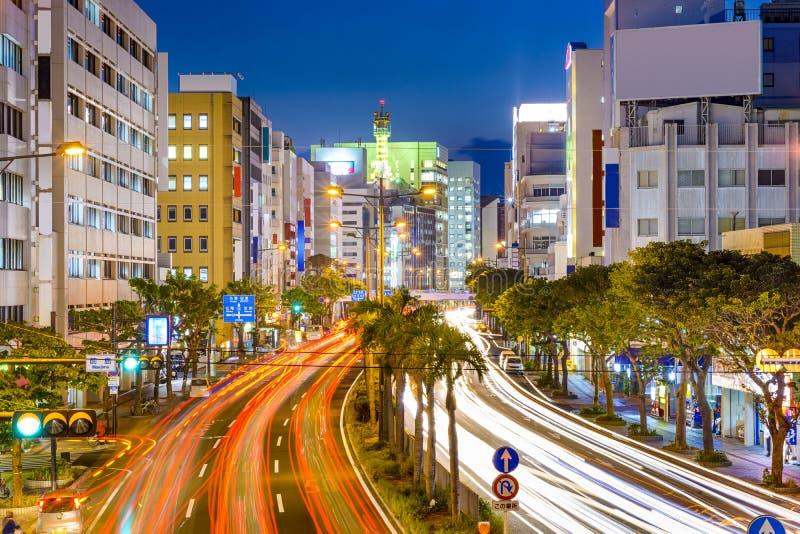 Naha Japan i stadens centrum Cityscape royaltyfria foton