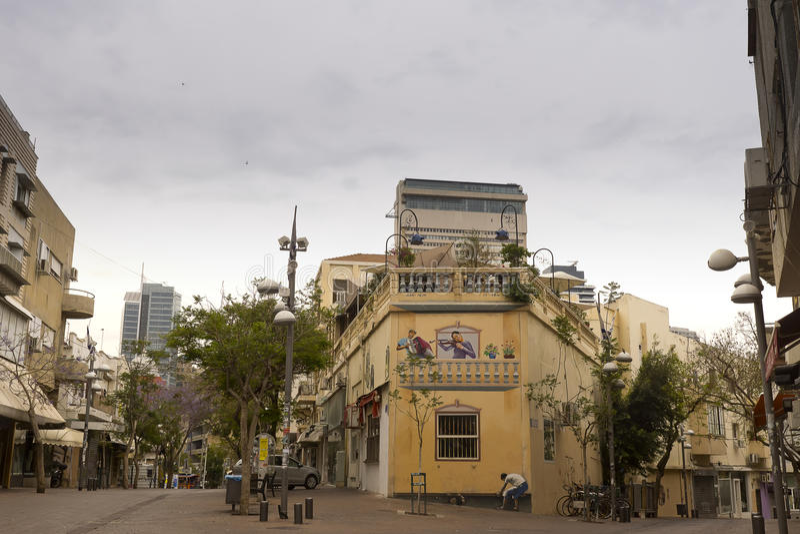 Nahalat Binyamin gata Israel royaltyfri fotografi