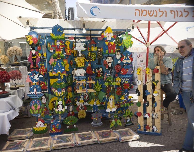Nahalat Binyamin hand - gjord marknad Israel royaltyfri fotografi