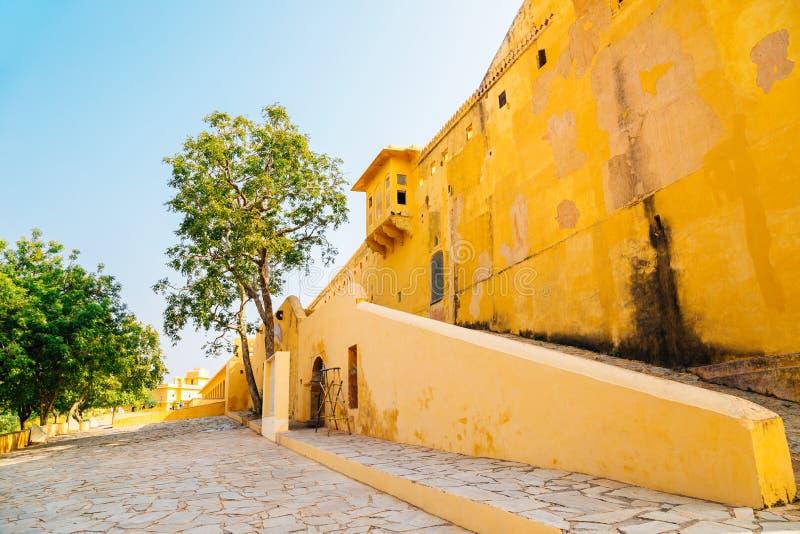 Nahargarh堡垒在斋浦尔,印度 免版税库存图片