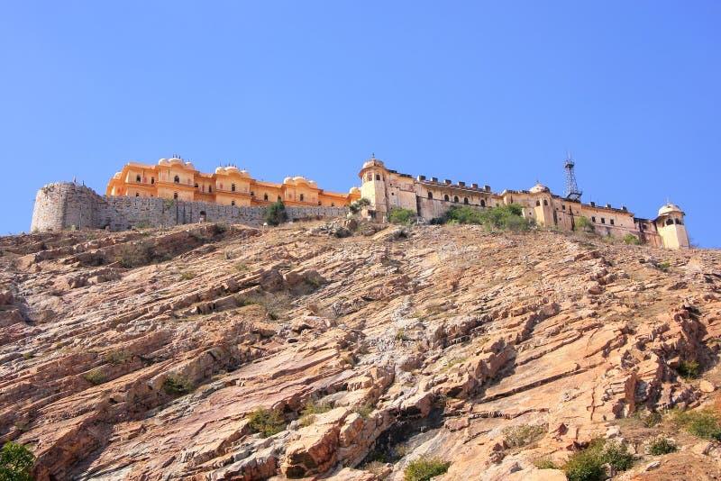 Nahargarh堡垒在斋浦尔,拉贾斯坦,印度 库存照片
