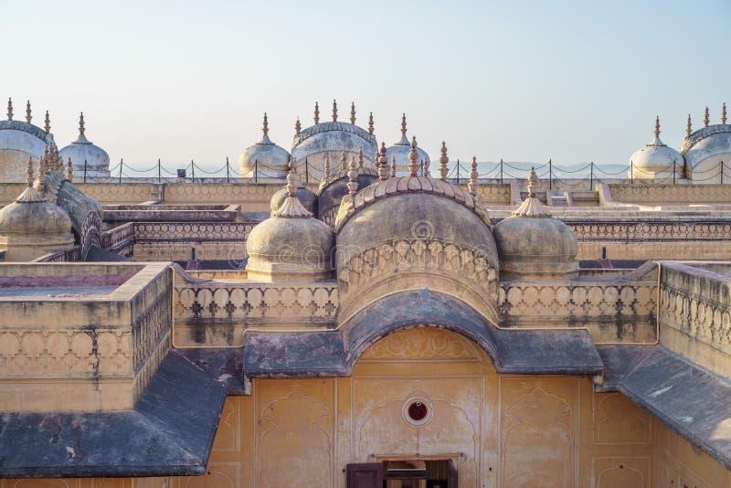 Nahargarh堡垒在斋浦尔 免版税库存照片