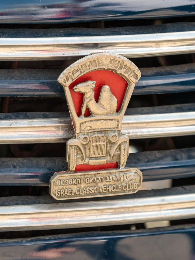 Emblem Of Israel Classic Vehicle Club - Club 5 Attached To The Car ...