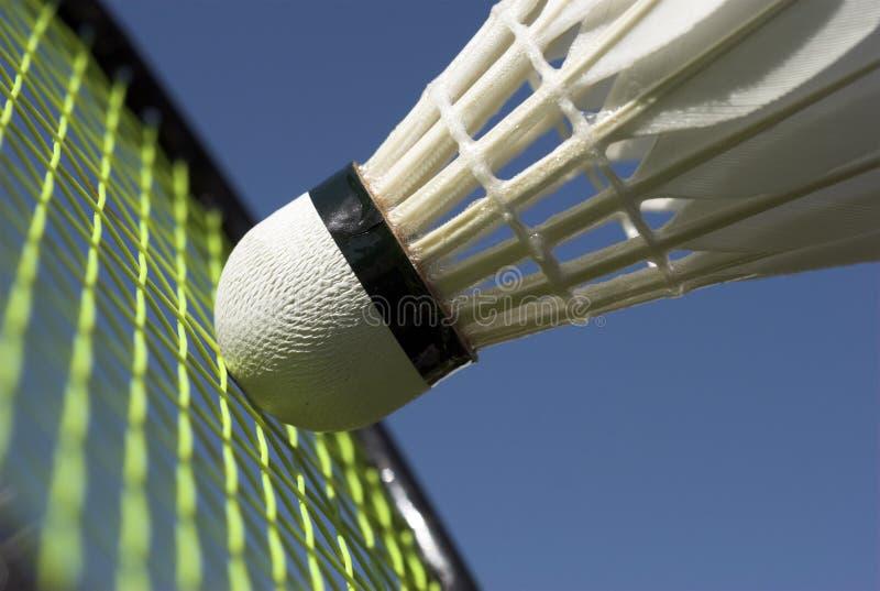 Nahaufnahme-Badminton stockfotos