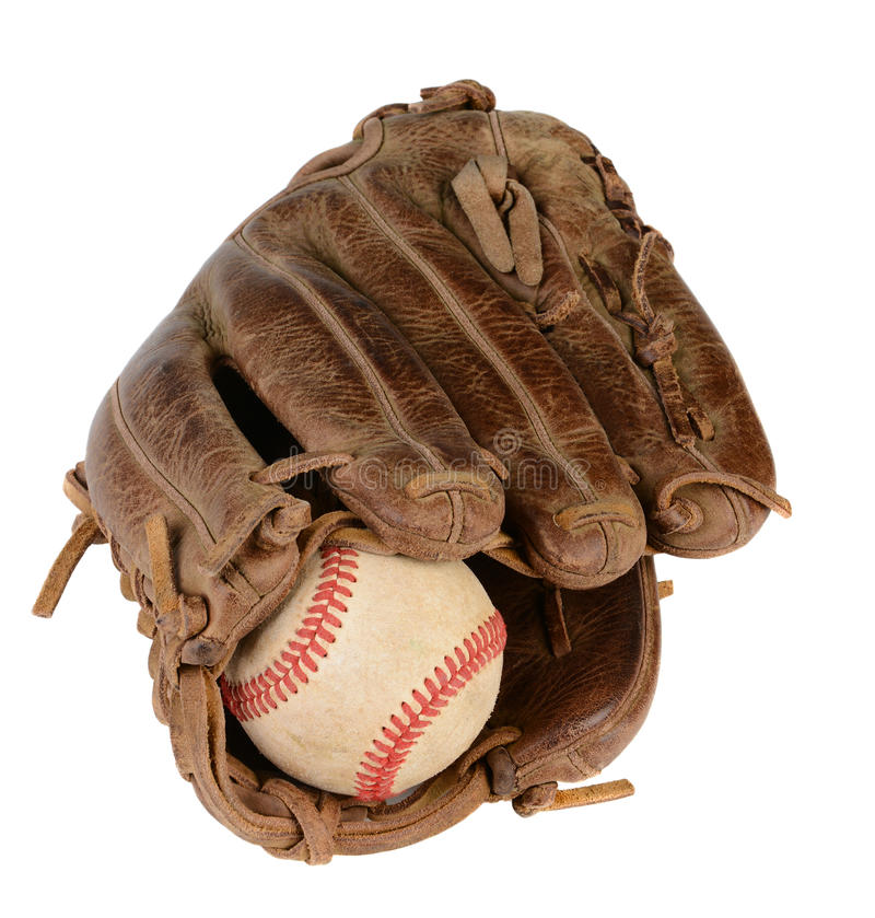 Nahaufnahme-Baseballhandschuh stockbild