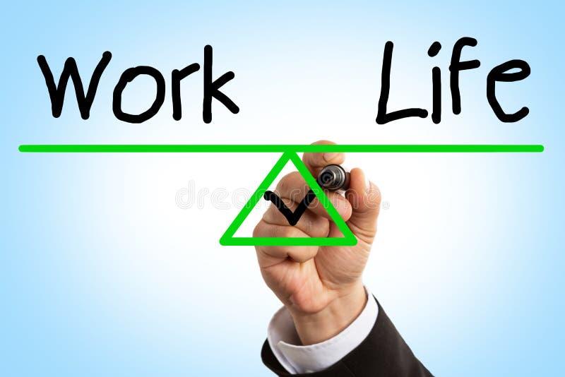 Nahaufnahme der Arbeit und des Lebenbalancenkonzeptes stockfotografie