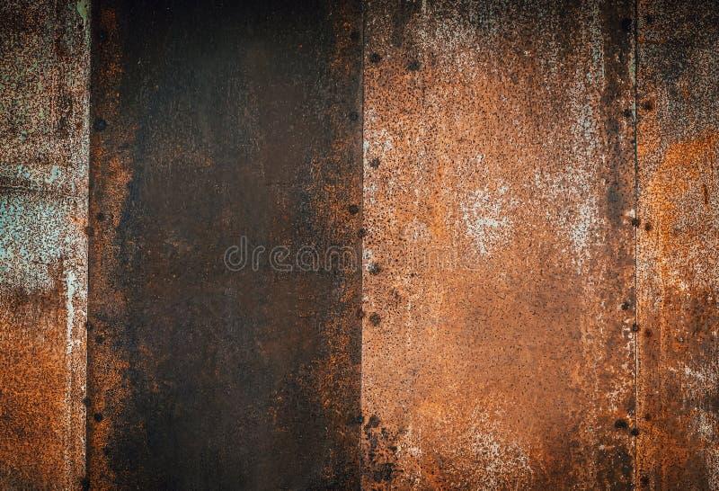 Nahaufnahme der braunen Metallrostschmutz-Hintergrundbeschaffenheit Verrostet, alt, Weinlese, Retro- Hintergrundbeschaffenheit lizenzfreies stockfoto