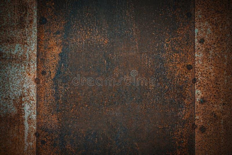 Nahaufnahme der braunen Metallrostschmutz-Hintergrundbeschaffenheit Verrostet, alt, Weinlese, Retro- Hintergrundbeschaffenheit stockfoto