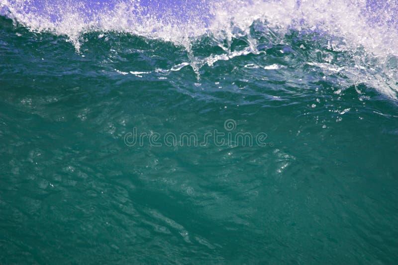Nahaufnahme der cresting Welle lizenzfreies stockfoto