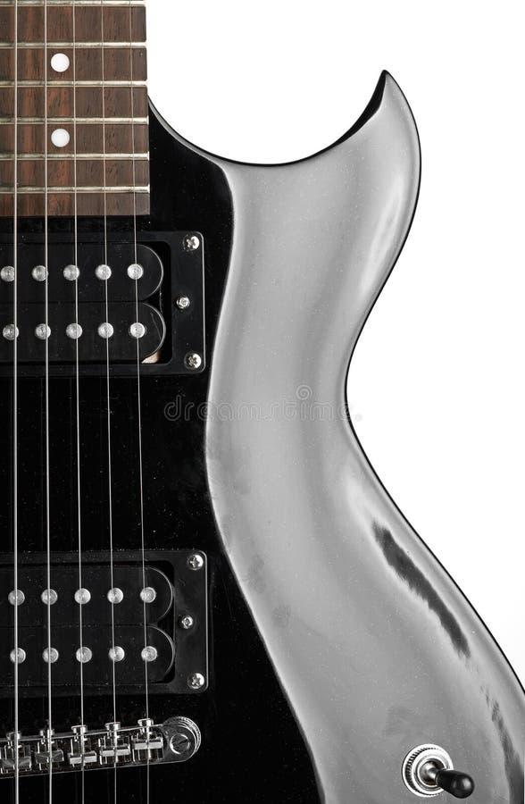 Nahaufnahme der elektrischen Gitarre lizenzfreies stockfoto