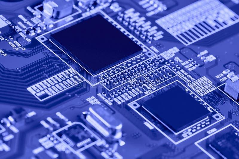 Nahaufnahme der elektronischen Leiterkarte High-Tech-Platine lizenzfreie stockfotos