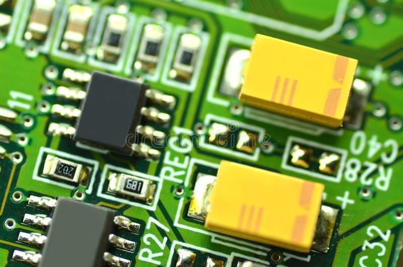 Nahaufnahme der elektronischen Leiterplatte stockfotografie