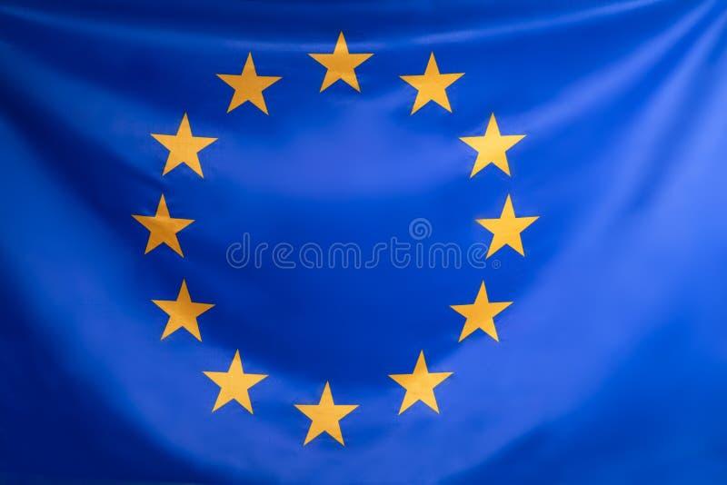 Nahaufnahme der Flagge der Europ?ischen Gemeinschaft lizenzfreies stockbild