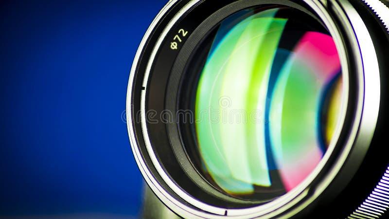 Nahaufnahme der photographischen Linse, Beugung des Lichtes stockfoto