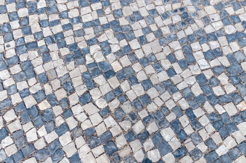 Nahaufnahme der portugiesischen typischen Pflasterung, calcada stockbilder