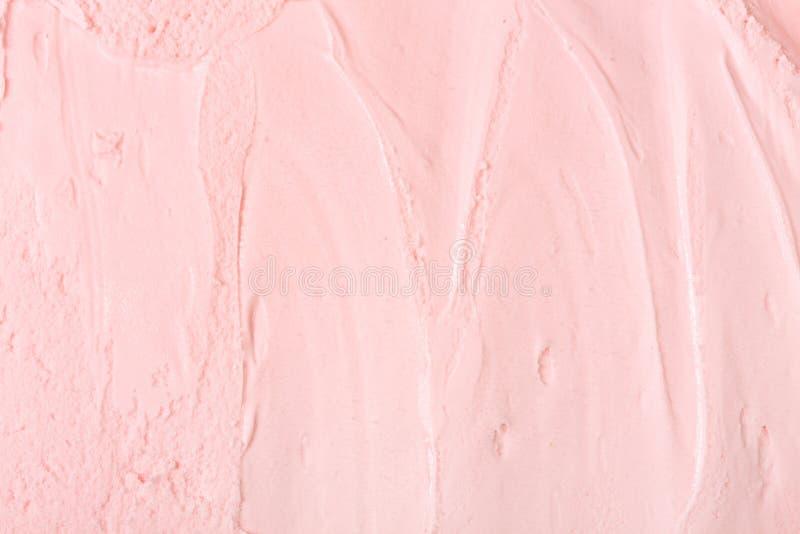 Nahaufnahme der rosa Eiscreme Rosa Eiscremebeschaffenheit lizenzfreie stockfotos