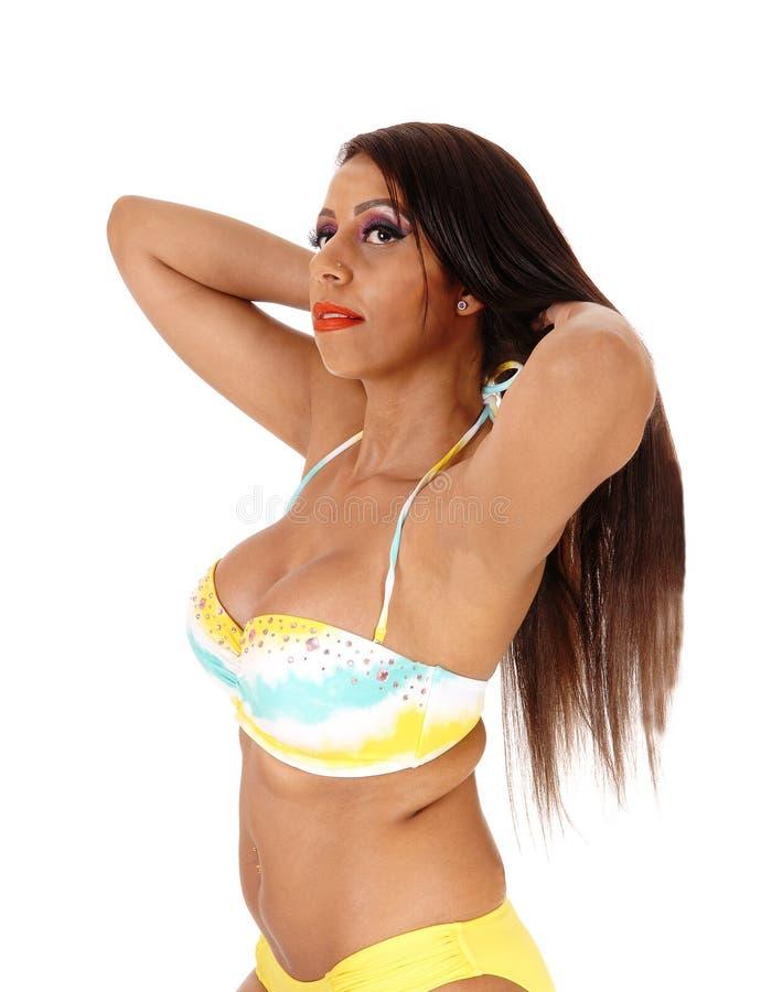 Nahaufnahme der Schönheit im Bikini lizenzfreies stockfoto