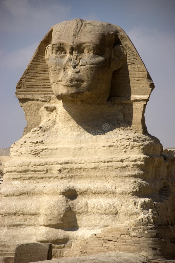 Nahaufnahme der Sphinxes lizenzfreie stockfotos