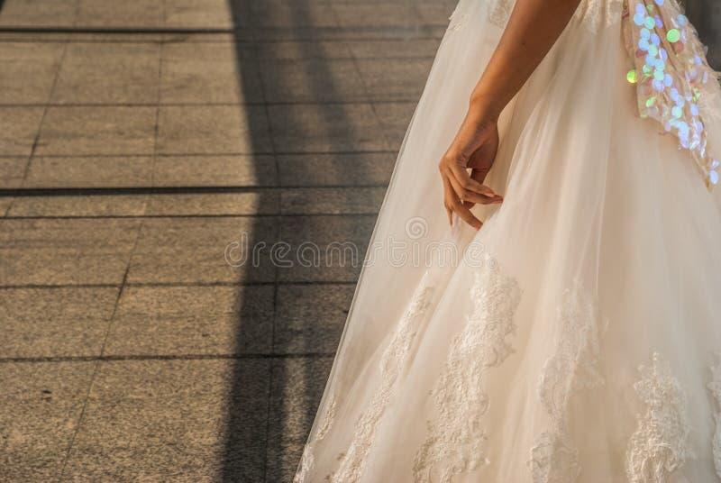 Nahaufnahme der weißen Braut stockfoto