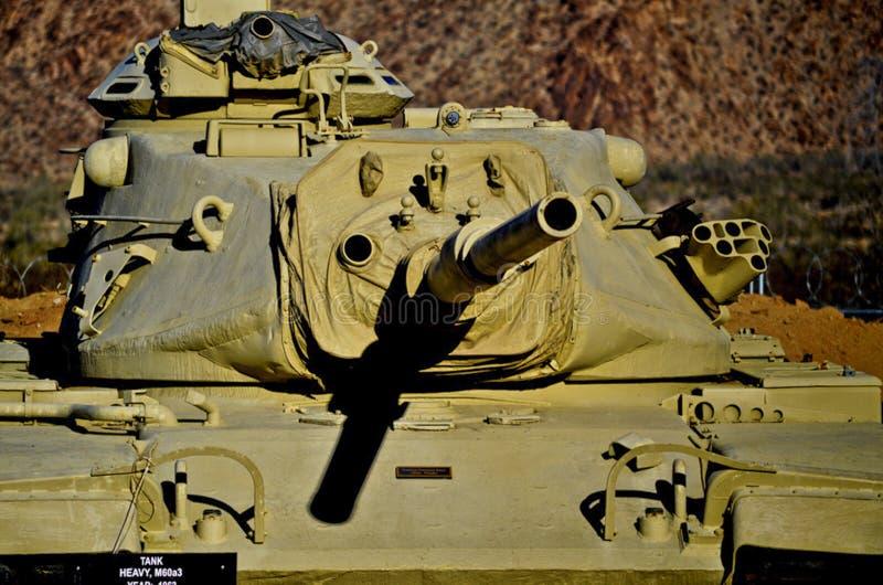 Nahaufnahme des AMERIKANISCHE Armee-Behälters M60a3 stockfotografie