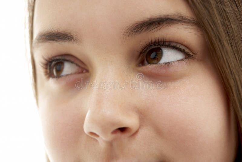 Nahaufnahme des Auges der Jugendlichen lizenzfreie stockbilder