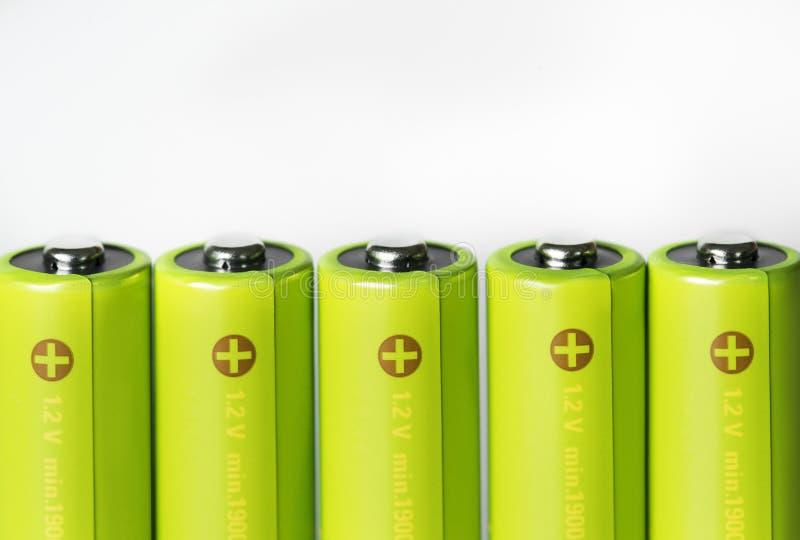 Nahaufnahme des Batteriesatzes lokalisiert auf weißem Hintergrund lizenzfreies stockfoto