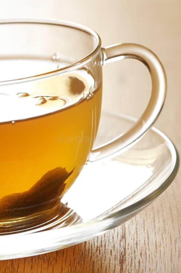 Nahaufnahme des grünen Tees stockfoto