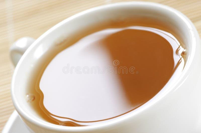 Nahaufnahme des grünen Tees stockfotos