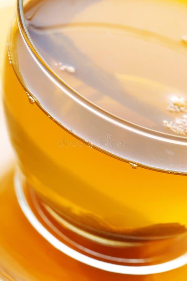 Nahaufnahme des grünen Tees lizenzfreies stockfoto
