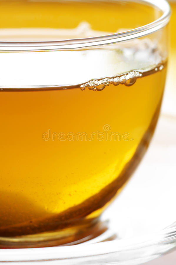 Nahaufnahme des grünen Tees stockbilder