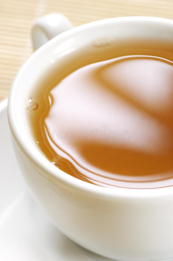 Nahaufnahme des grünen Tees lizenzfreie stockfotografie