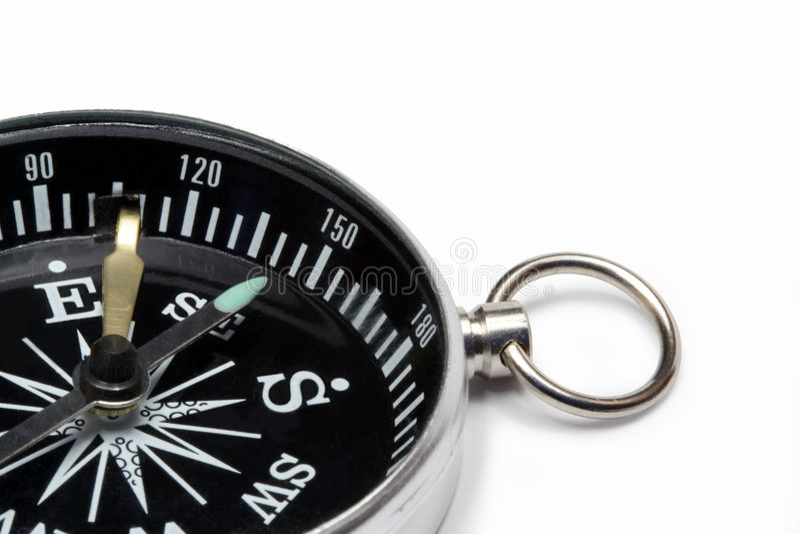 Nahaufnahme des Kompassses stockfotografie