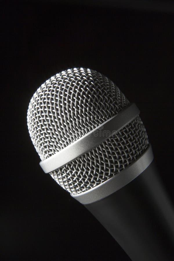 Nahaufnahme des Mikrofons stockbild