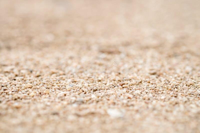 Nahaufnahme des Sandes auf dem Strand, flach tief vom Feld lizenzfreie stockfotografie