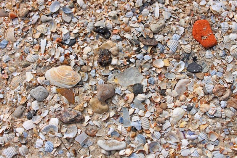 Nahaufnahme des Sandmusters eines Strandes im Sommer lizenzfreie stockbilder