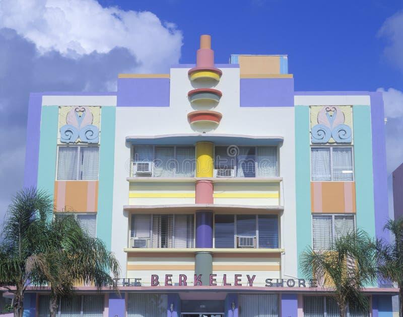 Nahaufnahme des Schaufensters im Art- DecoBezirk des Südstrandes, Florida stockfotos