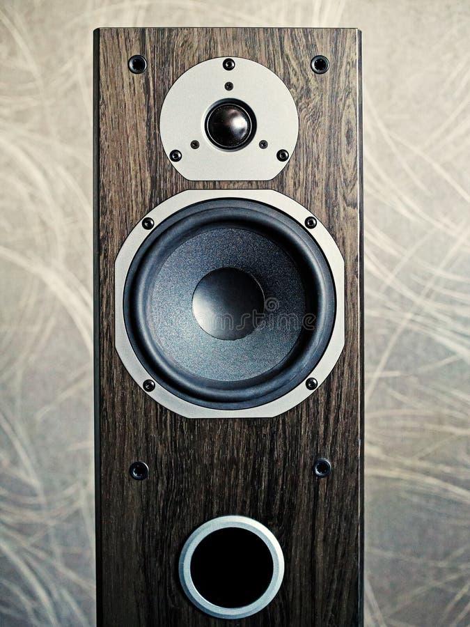 Nahaufnahme des Stereosprechers lizenzfreies stockbild