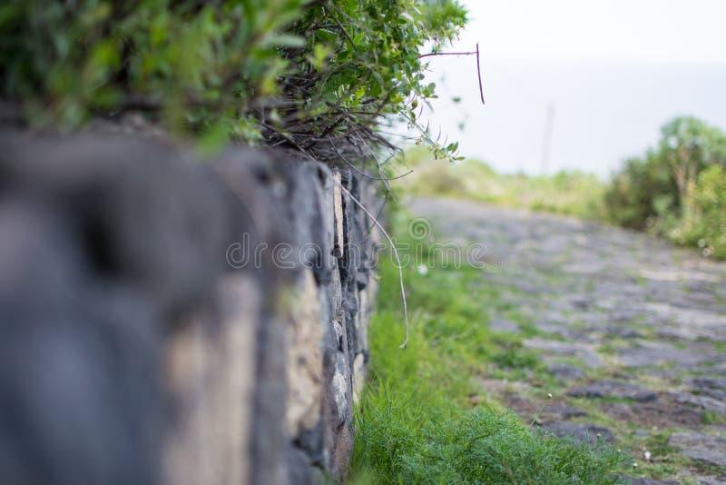 Nahaufnahme einer Backsteinmauer stockfotografie