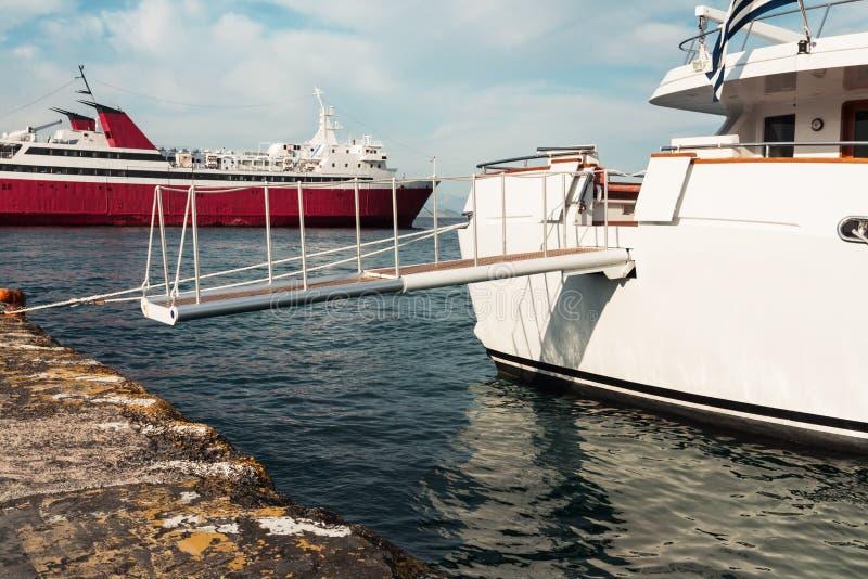Nahaufnahme einer Leiter auf einem Schiff lizenzfreie stockbilder
