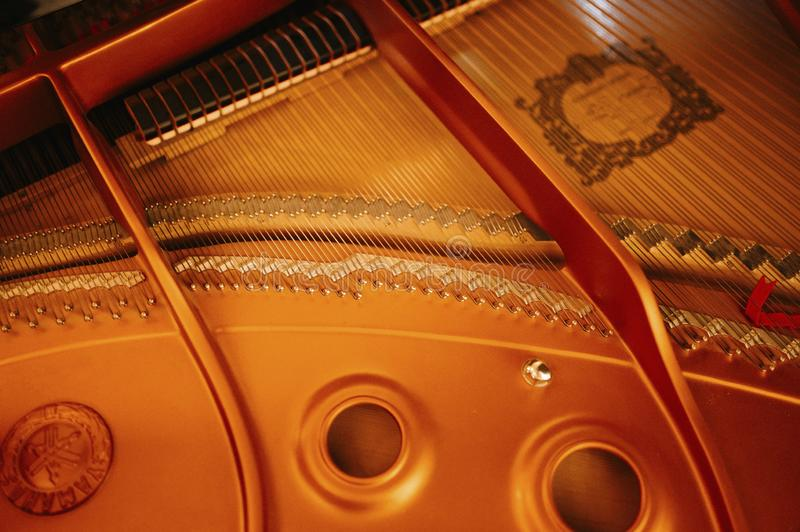 Nahaufnahme einer Musik performer' s-Hand, die das Klavier spielt lizenzfreie stockfotografie