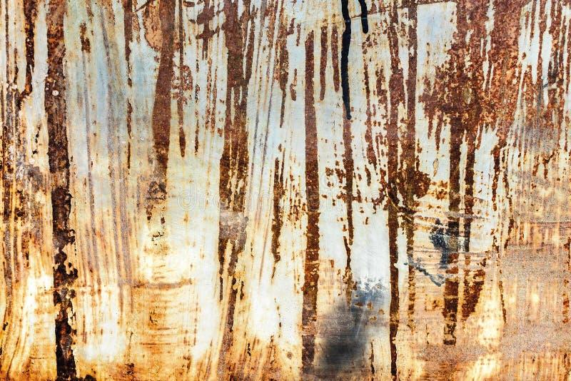 Download Nahaufnahme Einer Rostigen Metallwand, Mit Verwickelten Beschaffenheiten Stockbild - Bild von braun, wand: 106802213