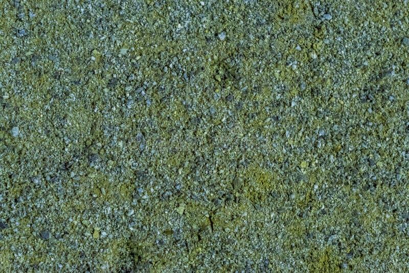 Nahaufnahme eines Gehwegs verhärtet mit kleinen Kieselsteinen, allgemeine Gartendekorationen stockfoto