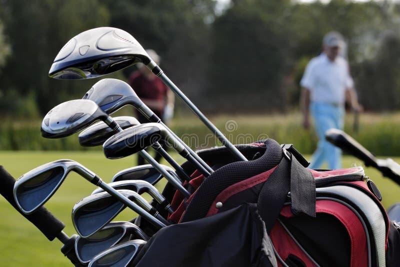 Nahaufnahme eines Golfbeutels lizenzfreie stockbilder