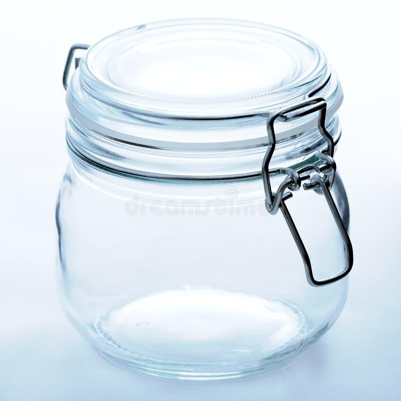 Leeres Glasglas lizenzfreies stockbild