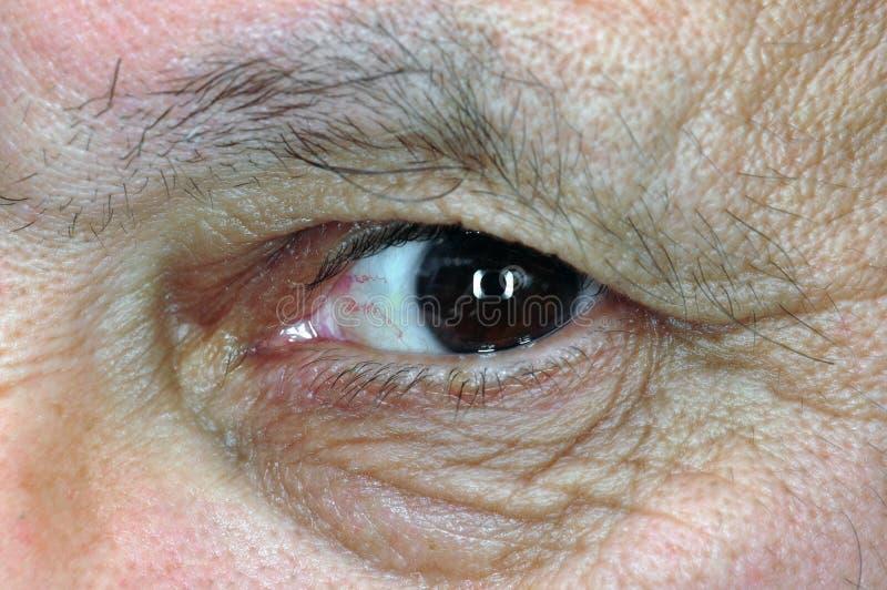 Nahaufnahme eines menschlichen Auges lizenzfreies stockbild
