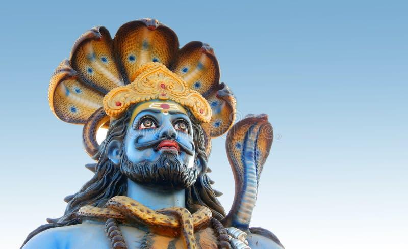 Nahaufnahme hindischen Gott Shiva-Idols in karthika deepam ustav Ereignis lizenzfreies stockbild