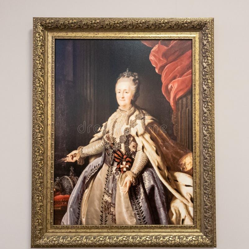 Nahaufnahme Malerei-Catherine II Kaiserin Catherine II stockfoto